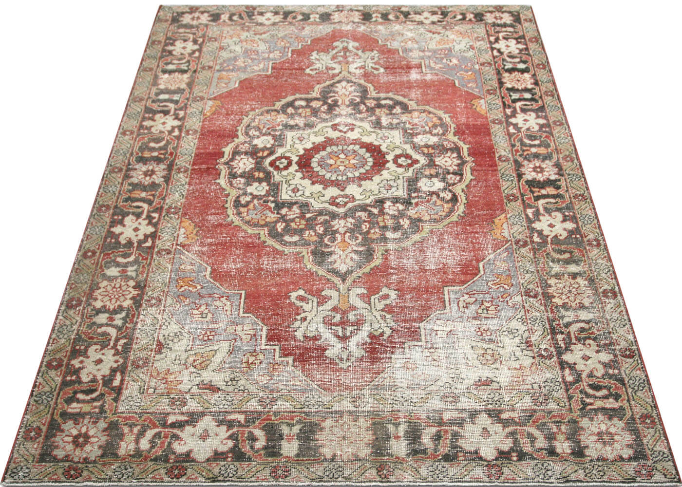 Vintage Turkish Oushak Carpet - 7' x 10'3""