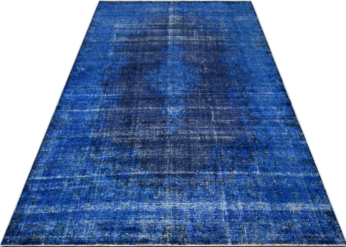 "Vintage Persian Kerman Overdyed Carpet - 9'10"" x 16'9"""