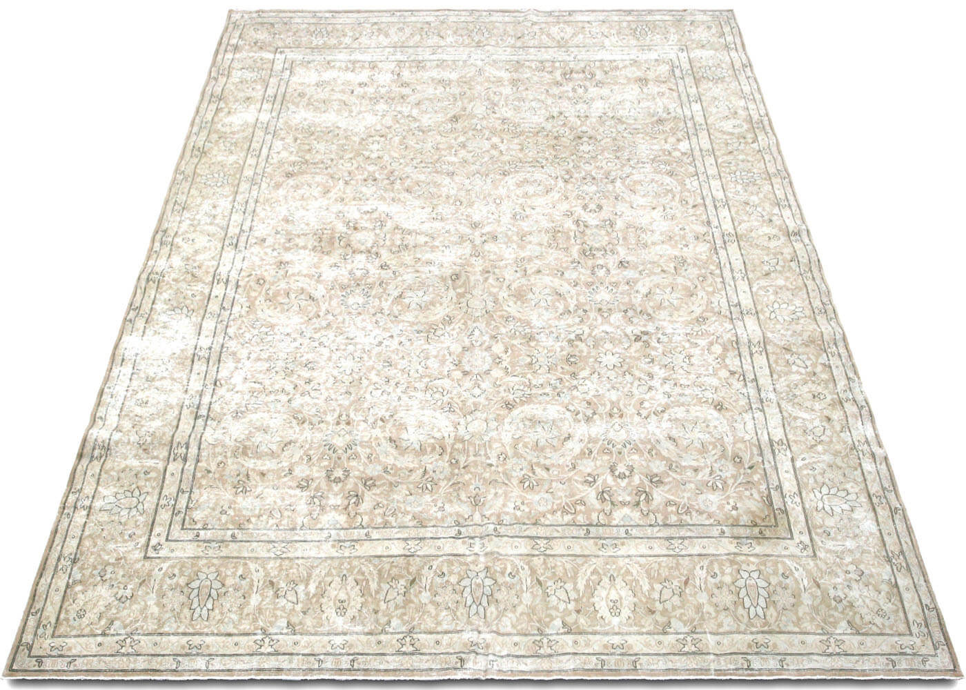 "Vintage Persian Kerman Carpet - 9'8"" x 12'8"""
