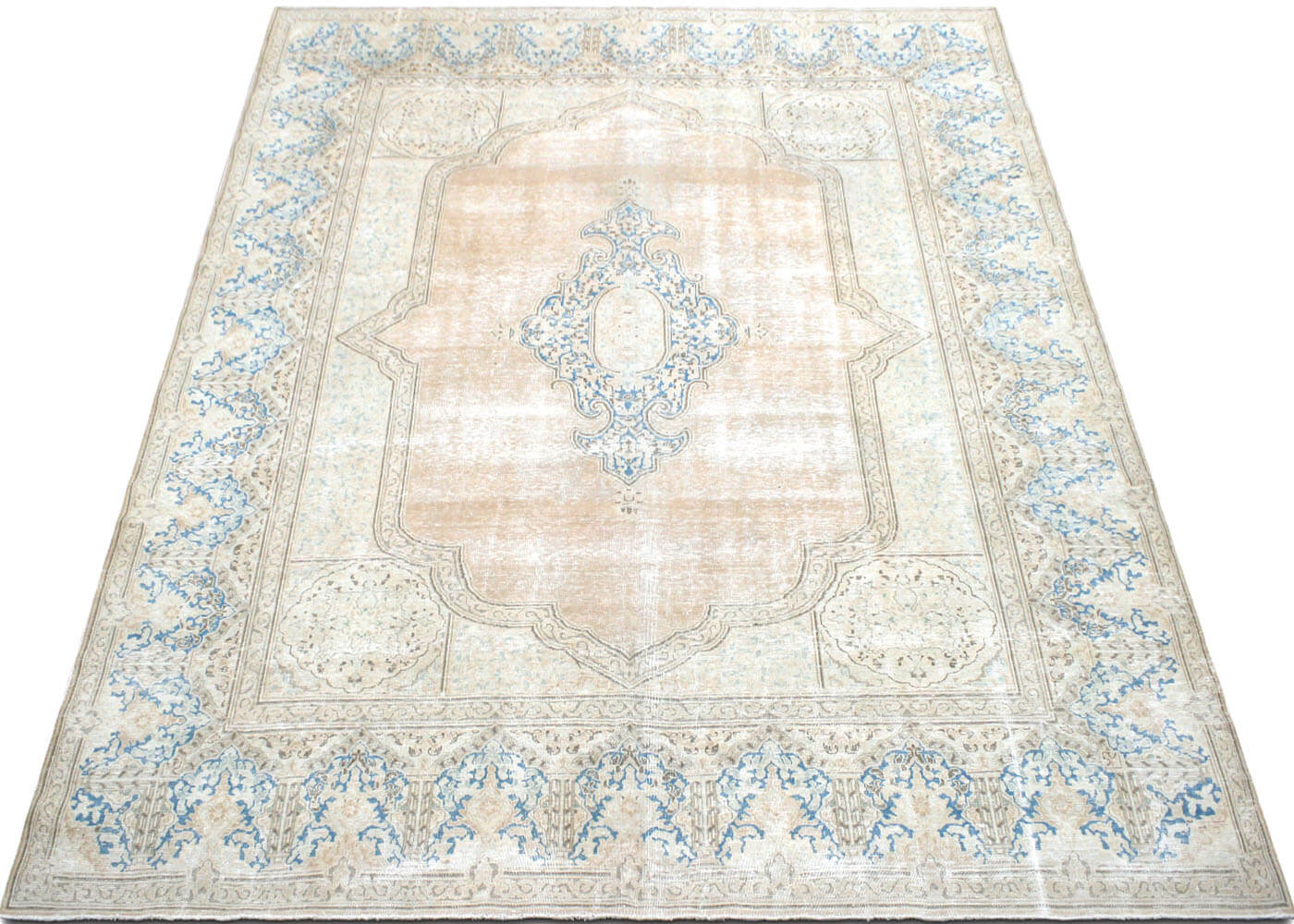"Vintage Persian Kerman Carpet - 9'10"" x 12'9"""