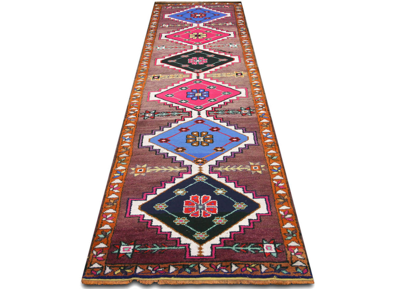 Vintage Turkish Oushak Runner - 3' x 11'7""