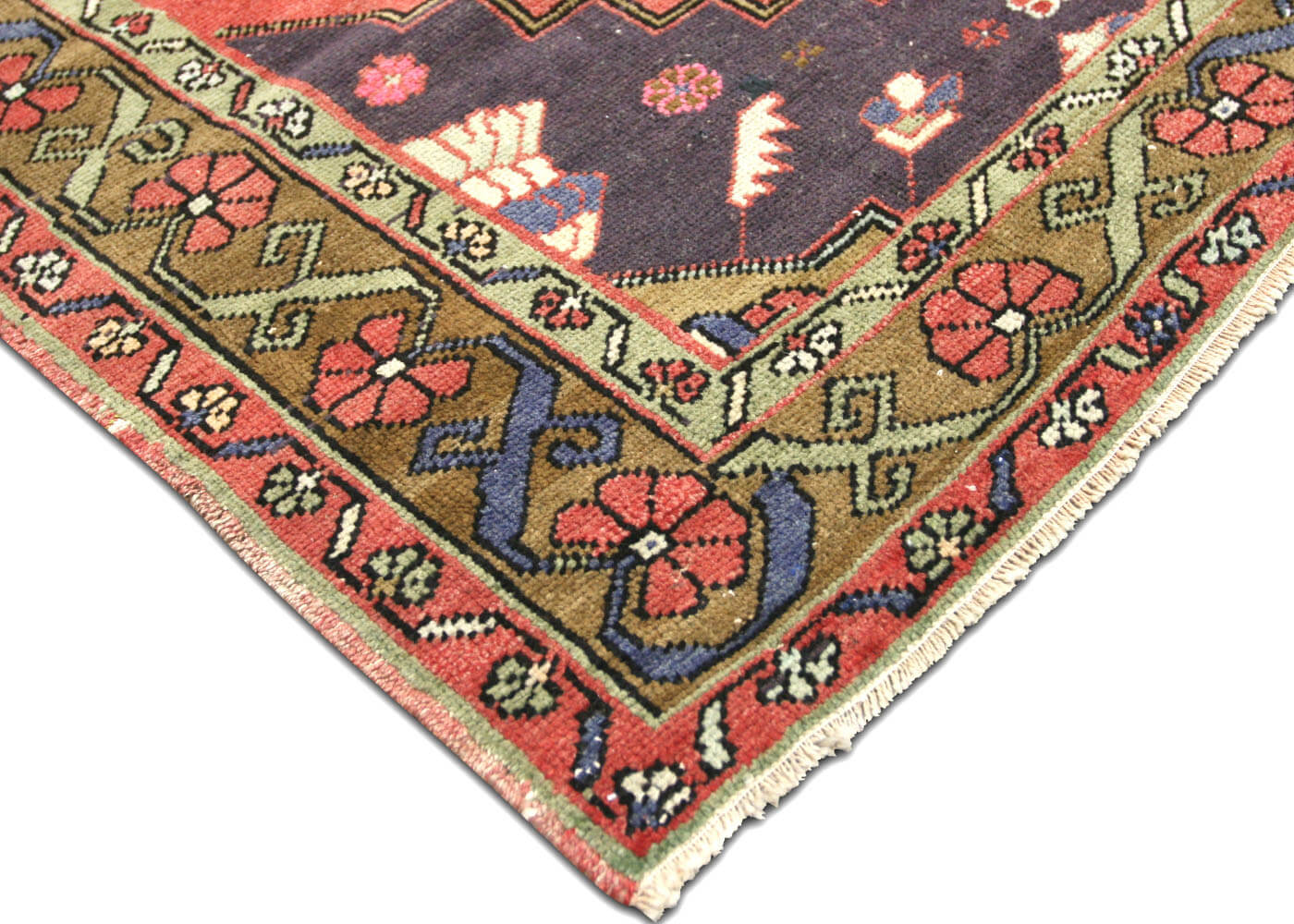 "Vintage Turkish Oushak Carpet - 5'0"" x 11'1"""