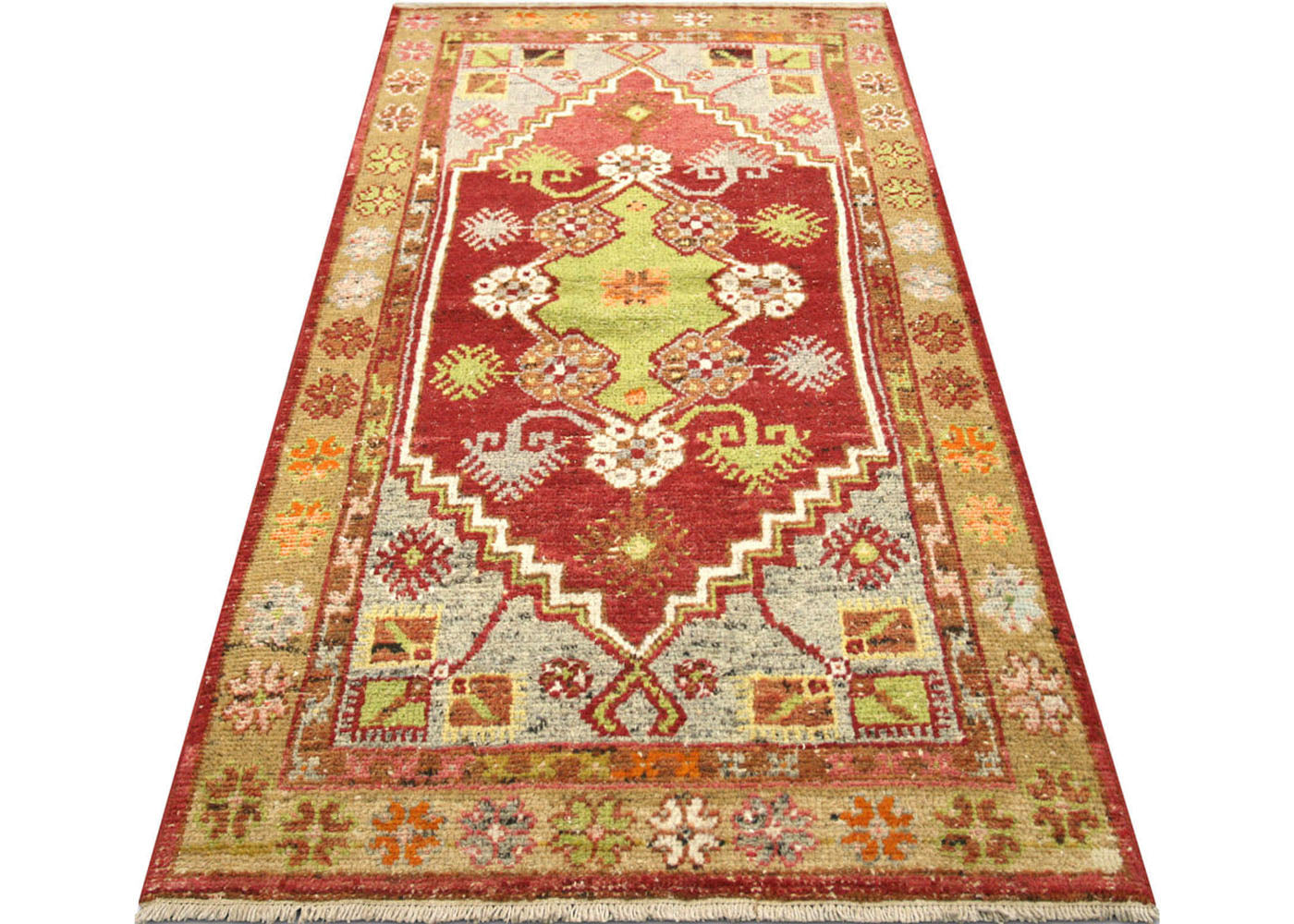 "Vintage Turkish Oushak Rug - 2'6"" x 4'10"""