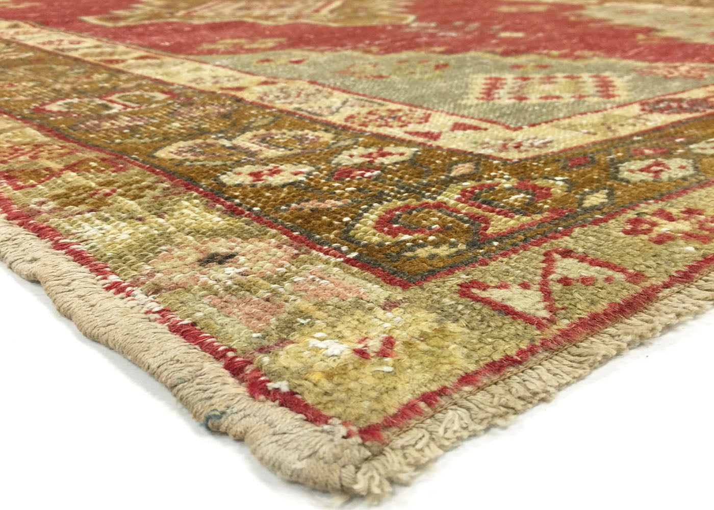 "Vintage Turkish Oushak Rug- 3'9"" x 5'9"""