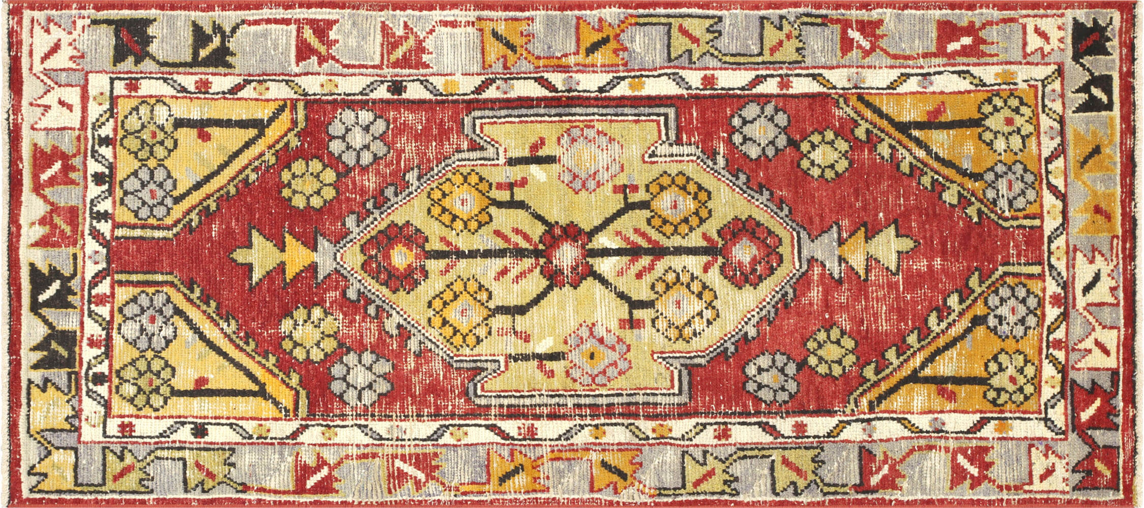 "Vintage Turkish Oushak Rug - 2'6"" x 5'4"""