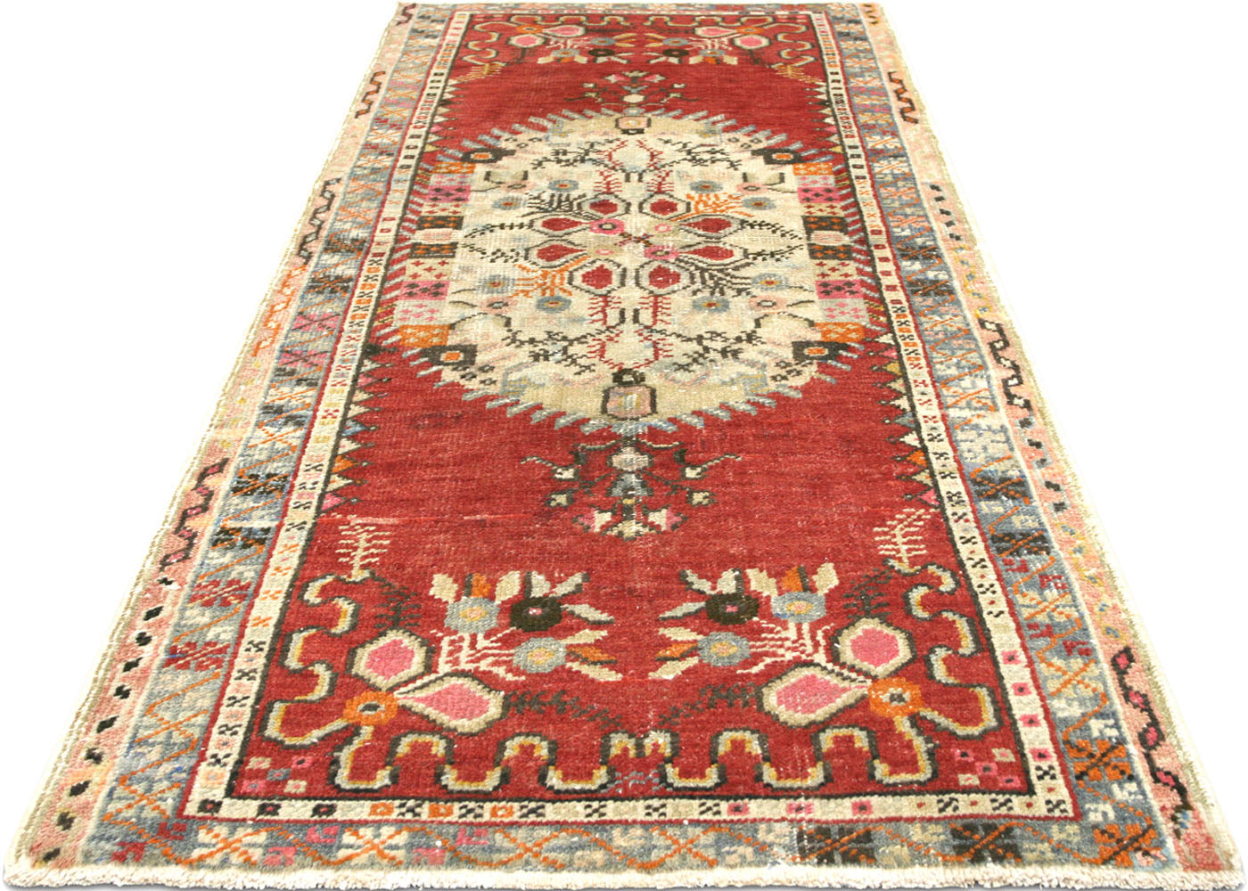 "Vintage Turkish Oushak Rug - 2'11"" x 6'1"""