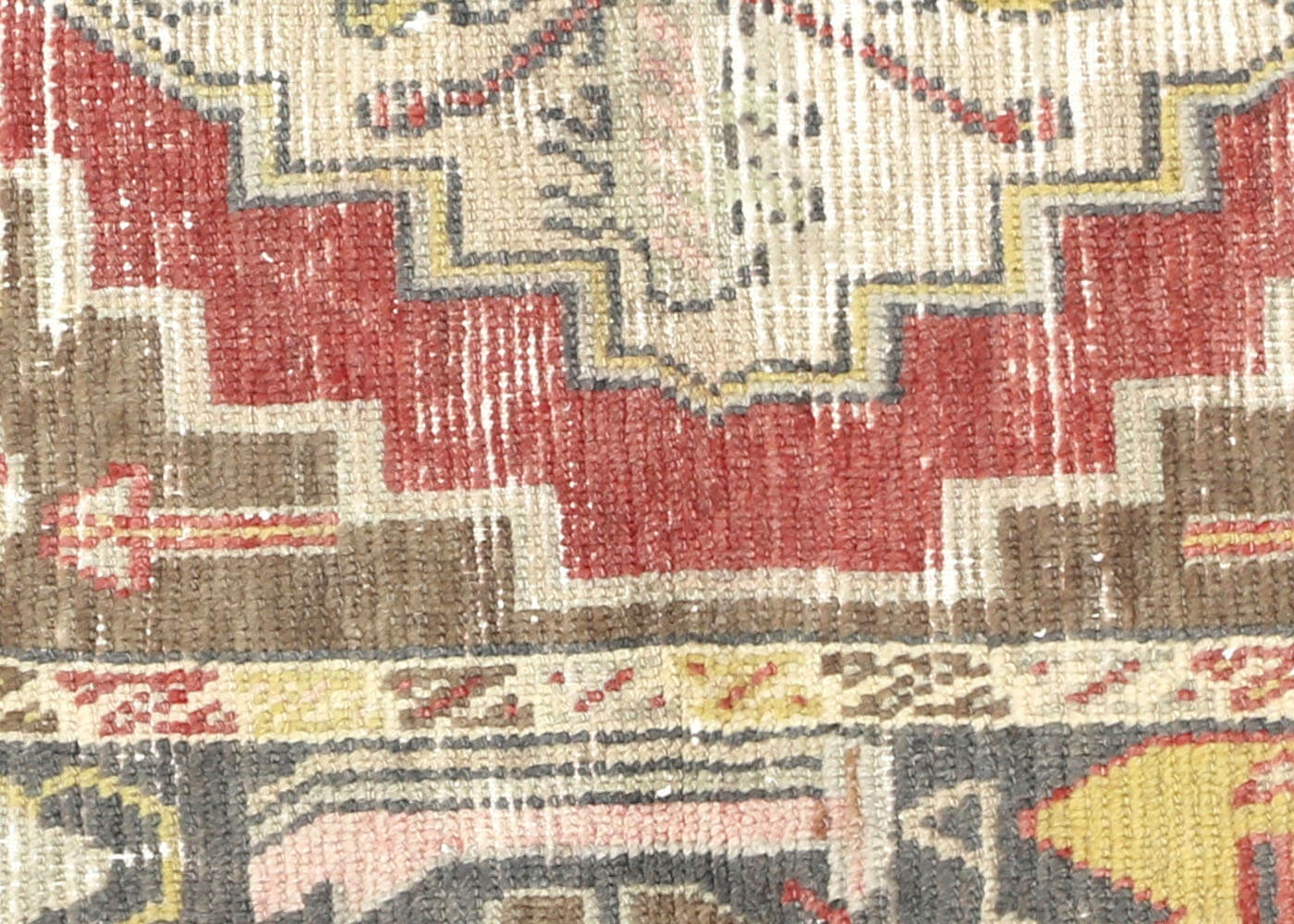 "Vintage Turkish Oushak Rug - 2'11"" x 4'8"""