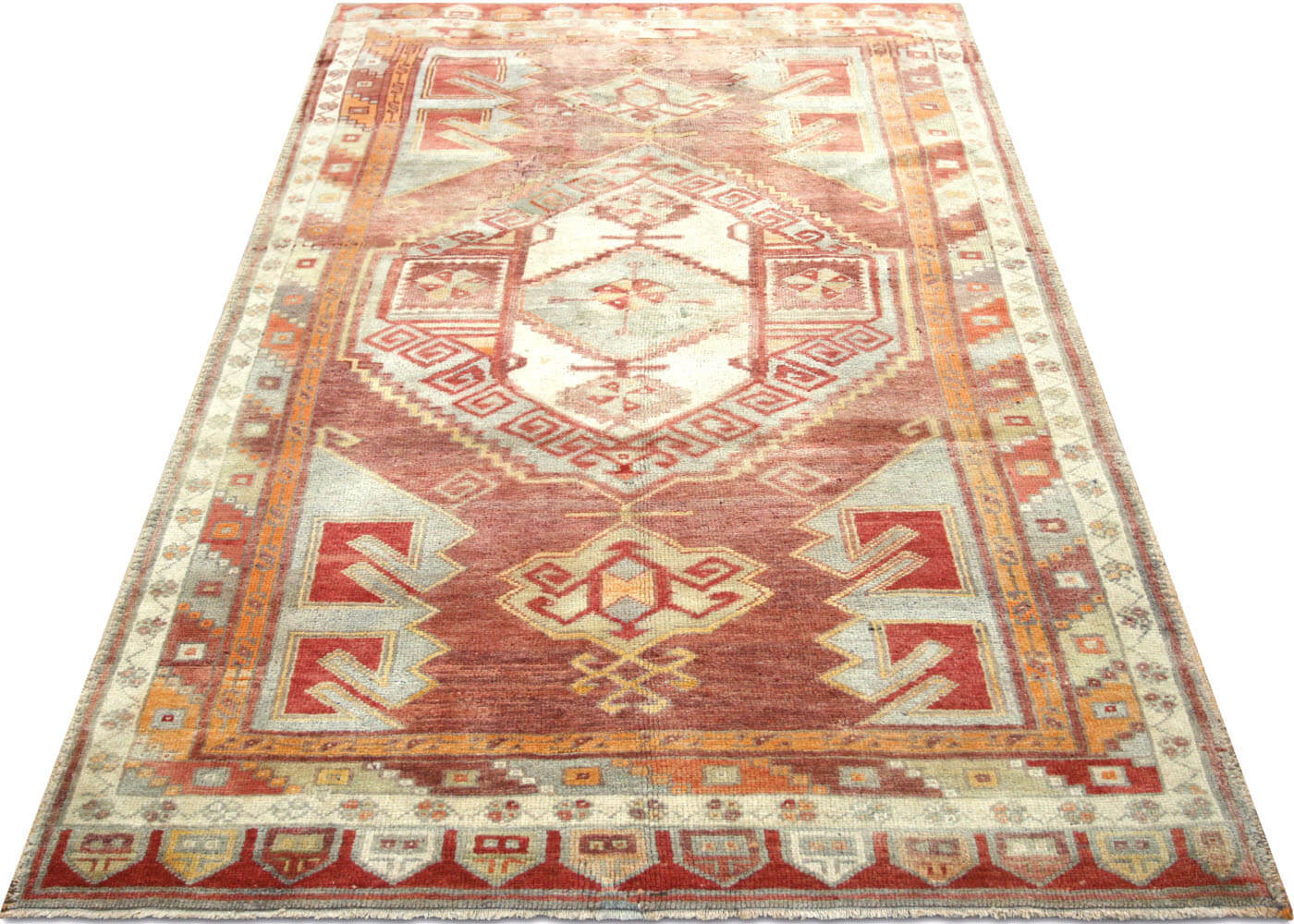 "Vintage Turkish Oushak Rug - 4'10"" x 8'"