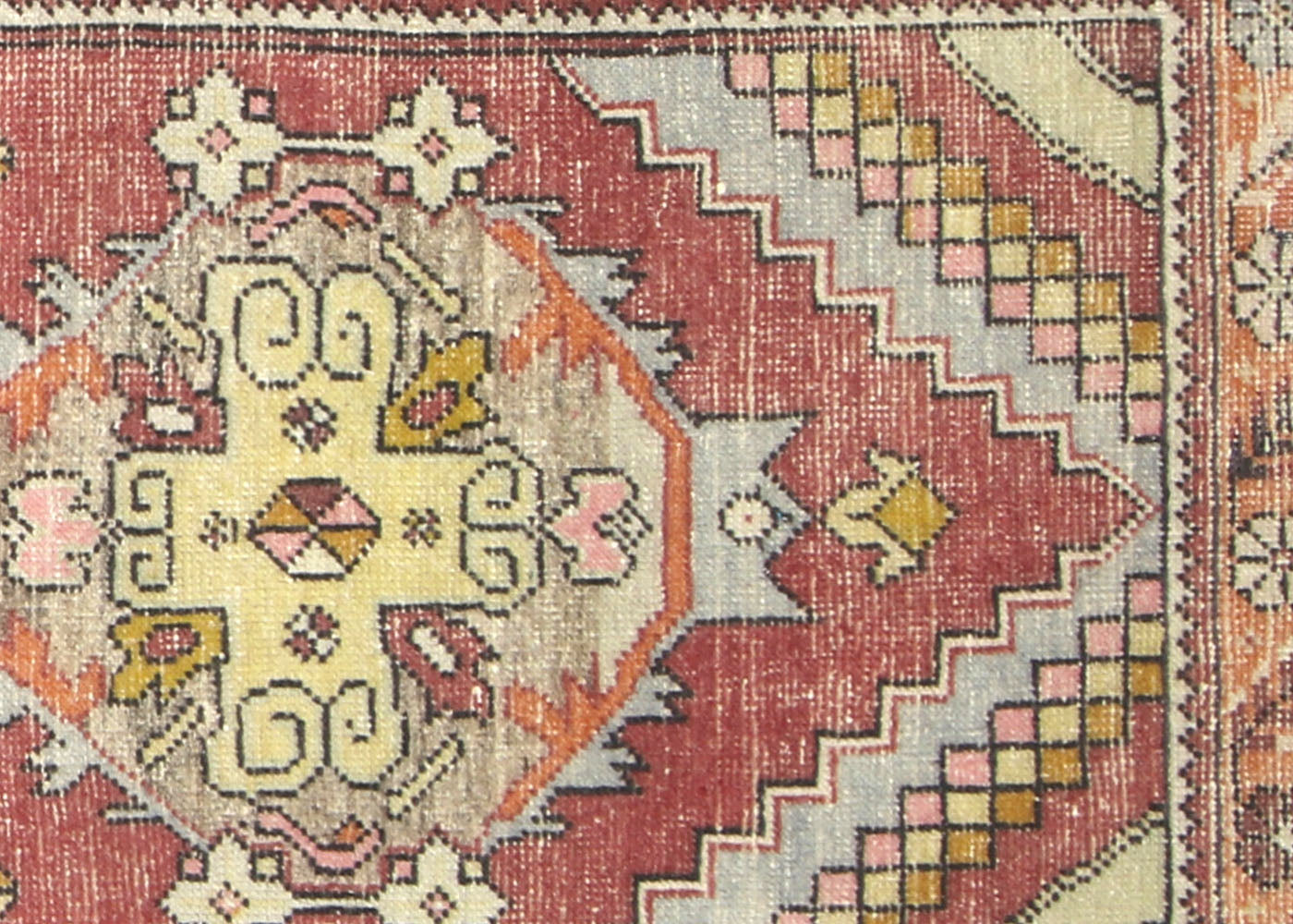 Vintage Turkish Oushak Runner - 3' x 9'8""