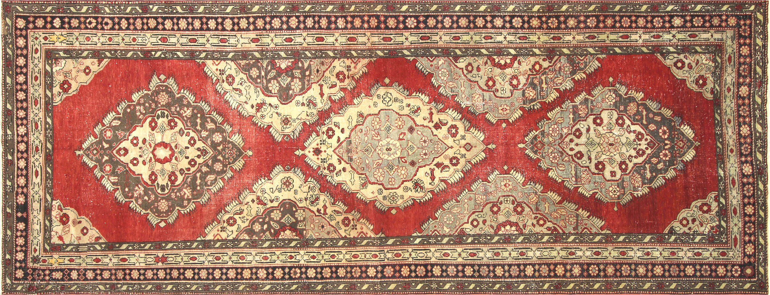 "Vintage Turkish Oushak Carpet - 5'7"" x 14'5"""