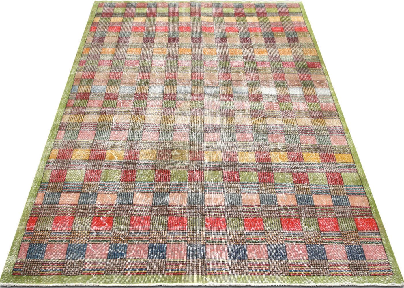 "Vintage Turkish Mid-Century Modern Carpet - 6'10"" x 10'2"""