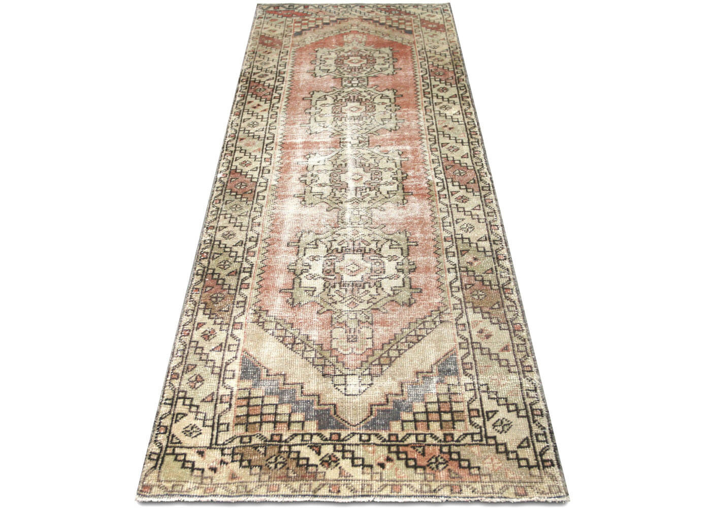 Vintage Turkish Oushak Runner - 3' x 9'4""