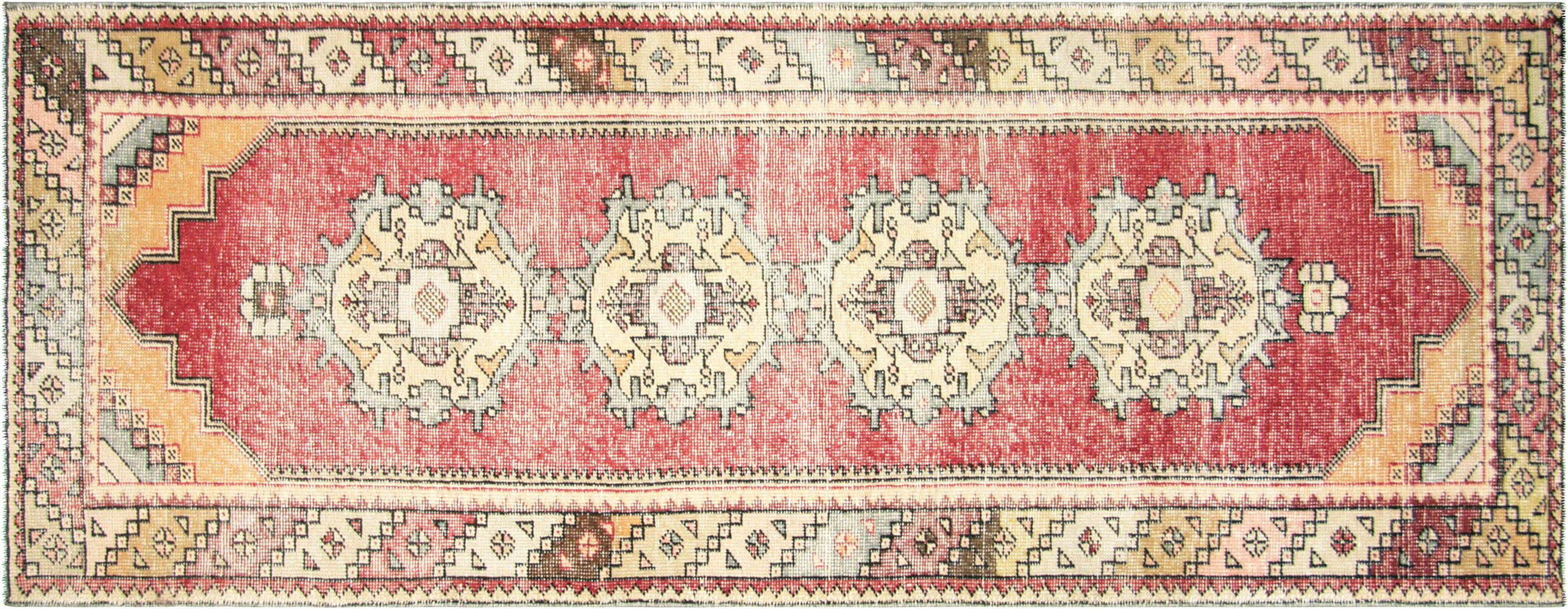 Vintage Turkish Oushak Runner - 3' x 9'7""