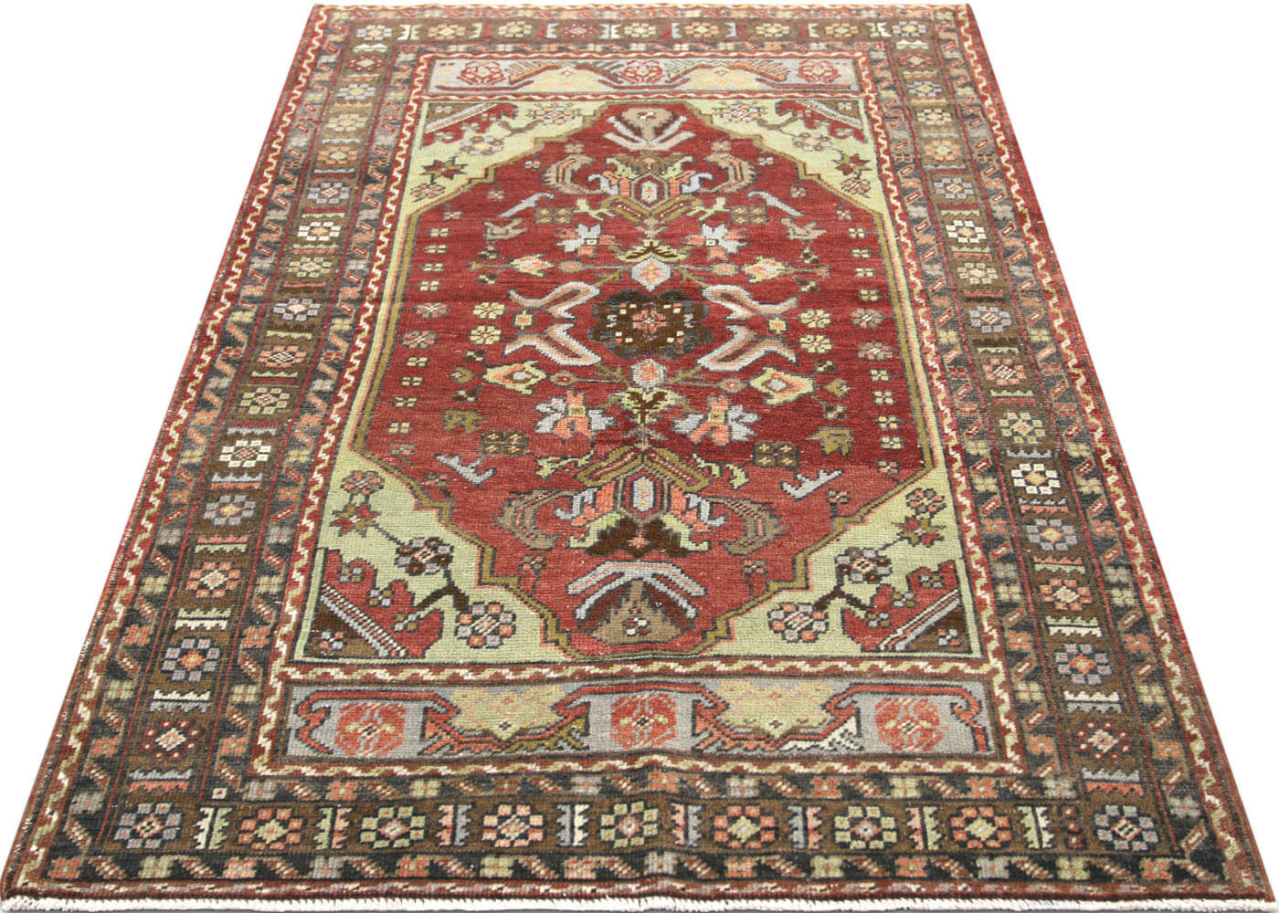 "Vintage Turkish Oushak Rug - 3'2"" x 5'0"""