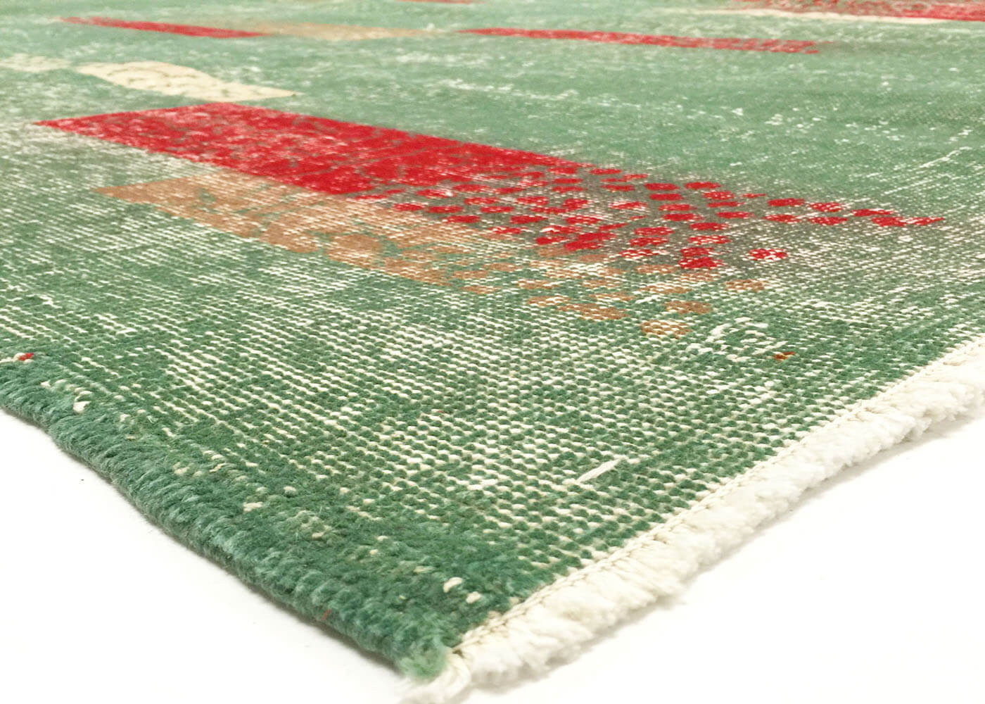 "Vintage Turkish Mid-Century Modern Carpet - 6'10"" x 10'1"""