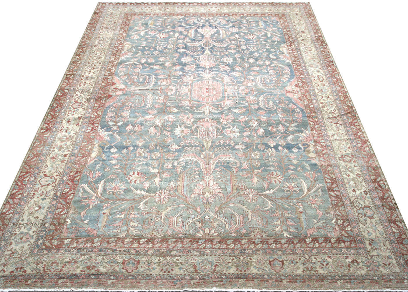 "Semi Antique Persian Baktiari Carpet - 12'7"" x 18'3"""