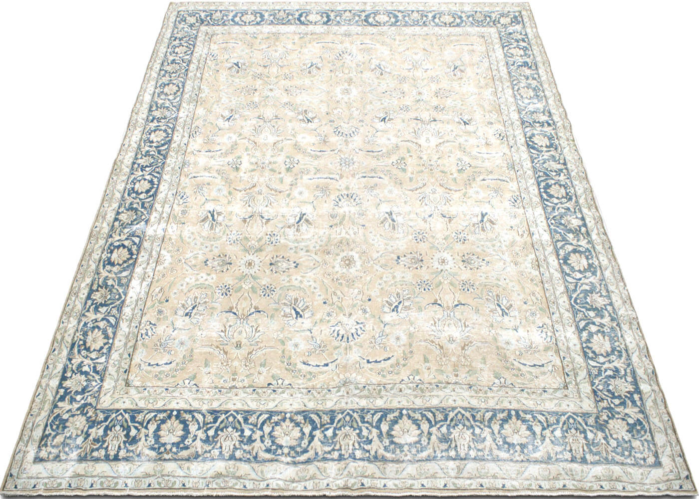 "Vintage Persian Kerman Carpet - 9'6"" x 12'10"""