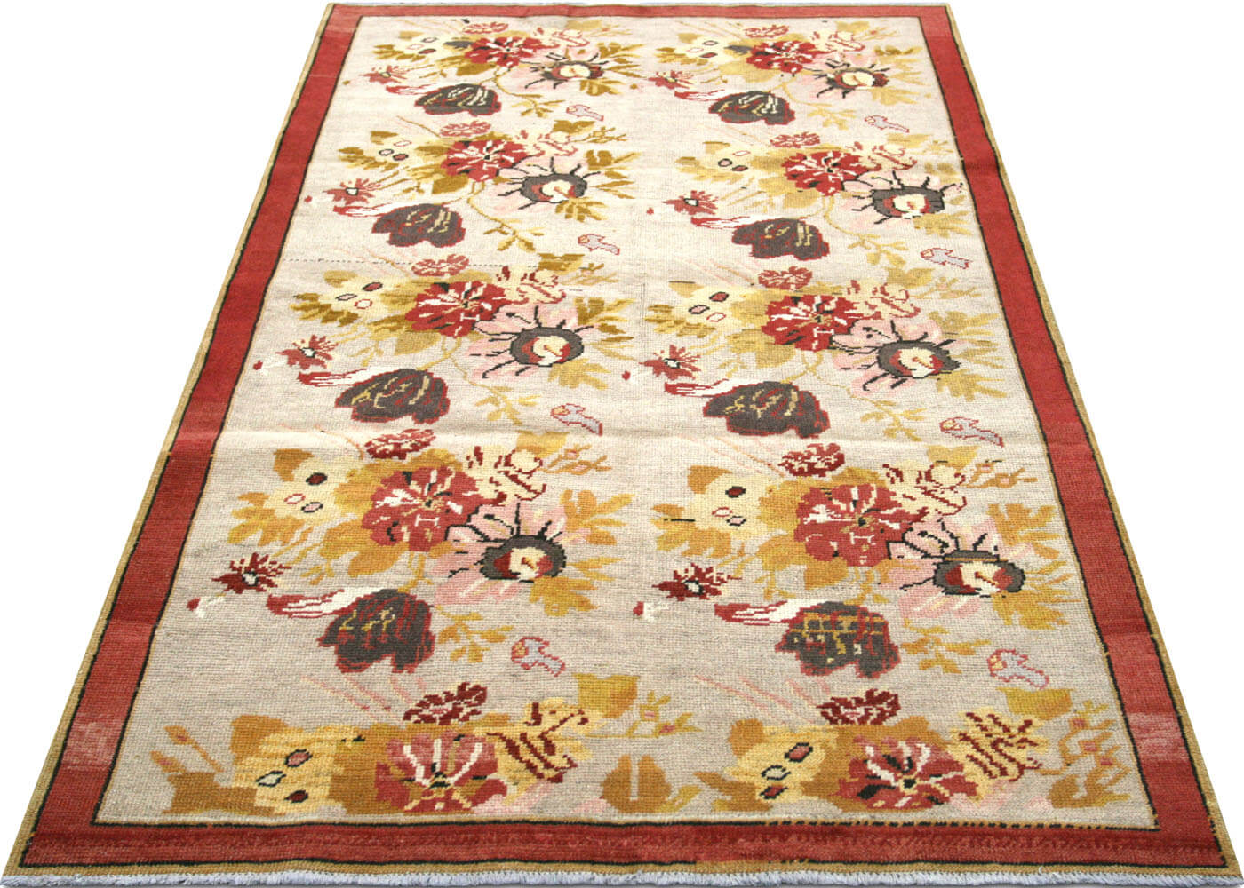 "Vintage Turkish Oushak Rug - 4'5"" x 7'5"""
