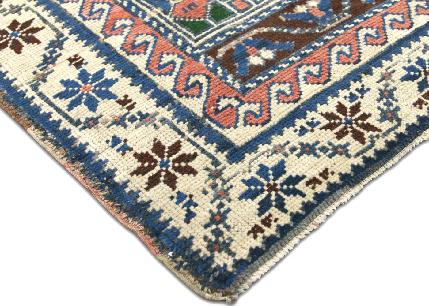 "Vintage Turkish Oushak Rug - 4'1"" x 6'6"""