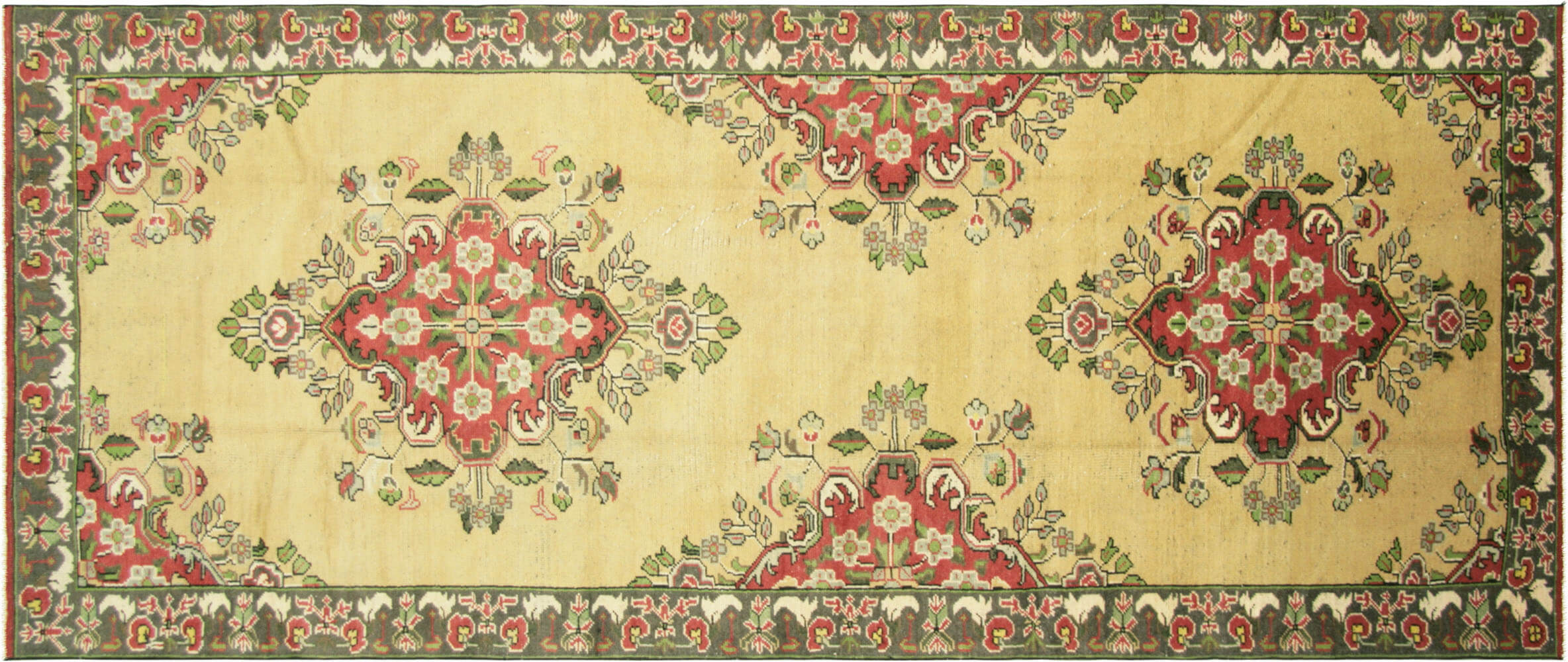 Vintage Turkish Oushak Carpet - 5' x 11'8""