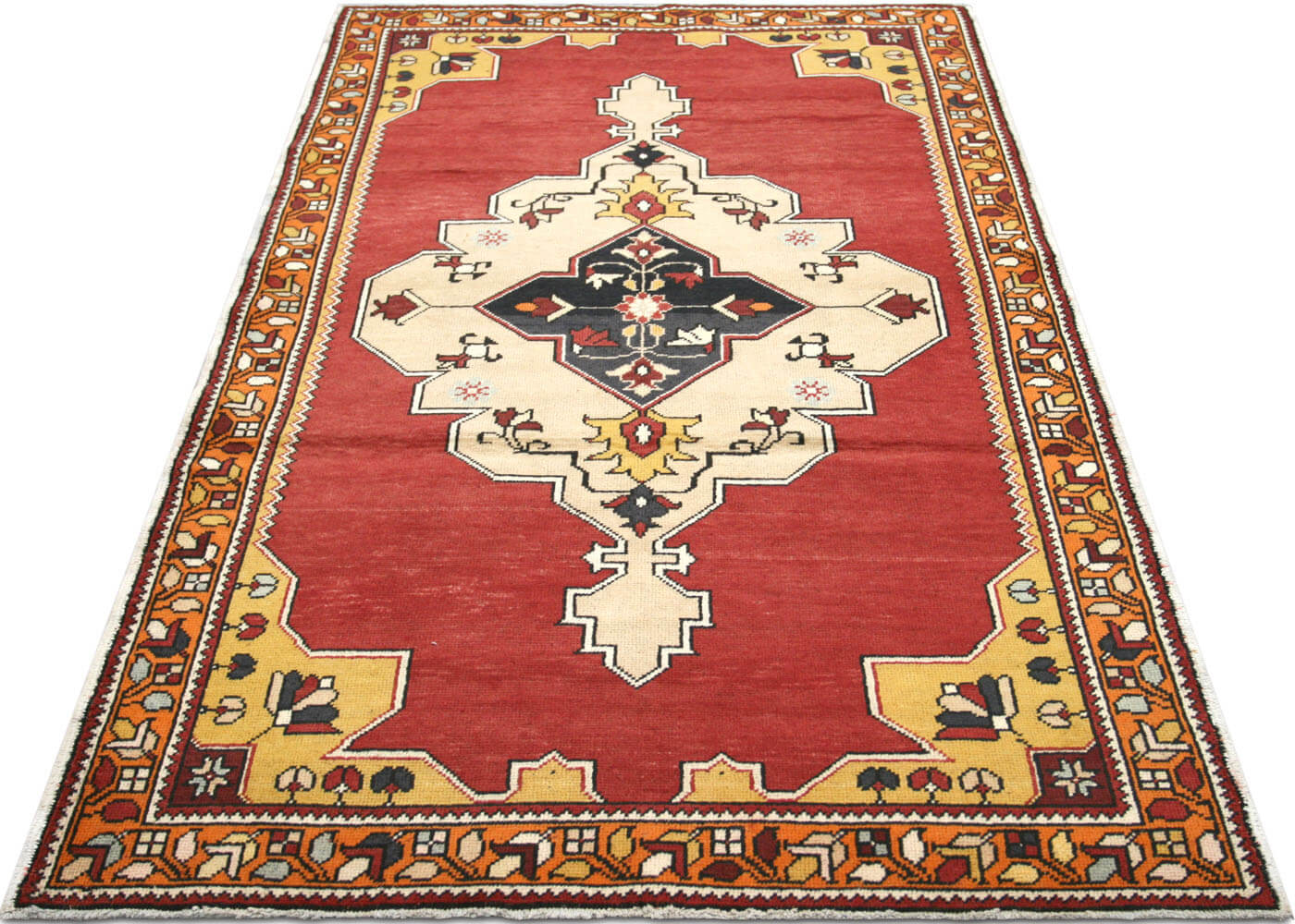"Vintage Turkish Oushak Rug - 4'6"" x 7'10"""