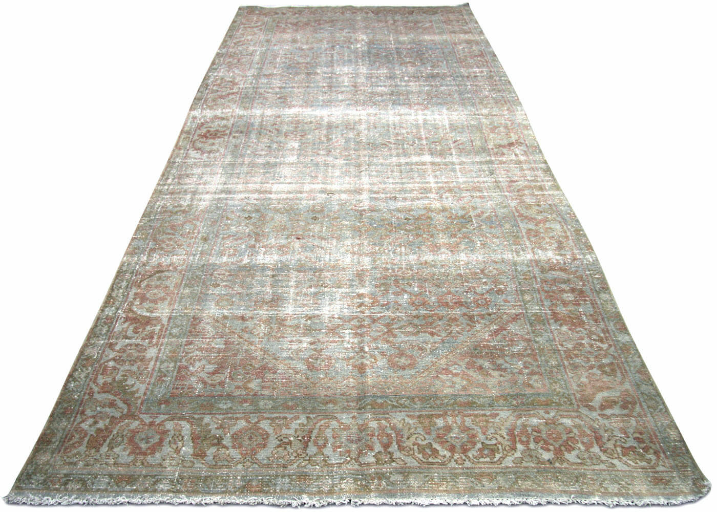 "Semi Antique Persian Melayer Carpet - 4'10"" x 12'10"""