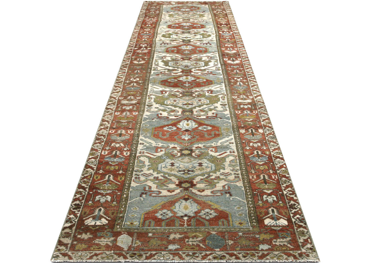 "Semi Antique Persian Melayer Runner - 3'4"" x 15'7"""