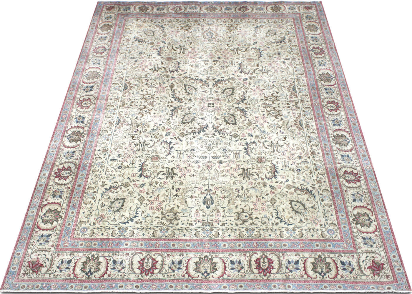 "Semi Antique Persian Tabriz Carpet - 9'6"" x 12'10"""
