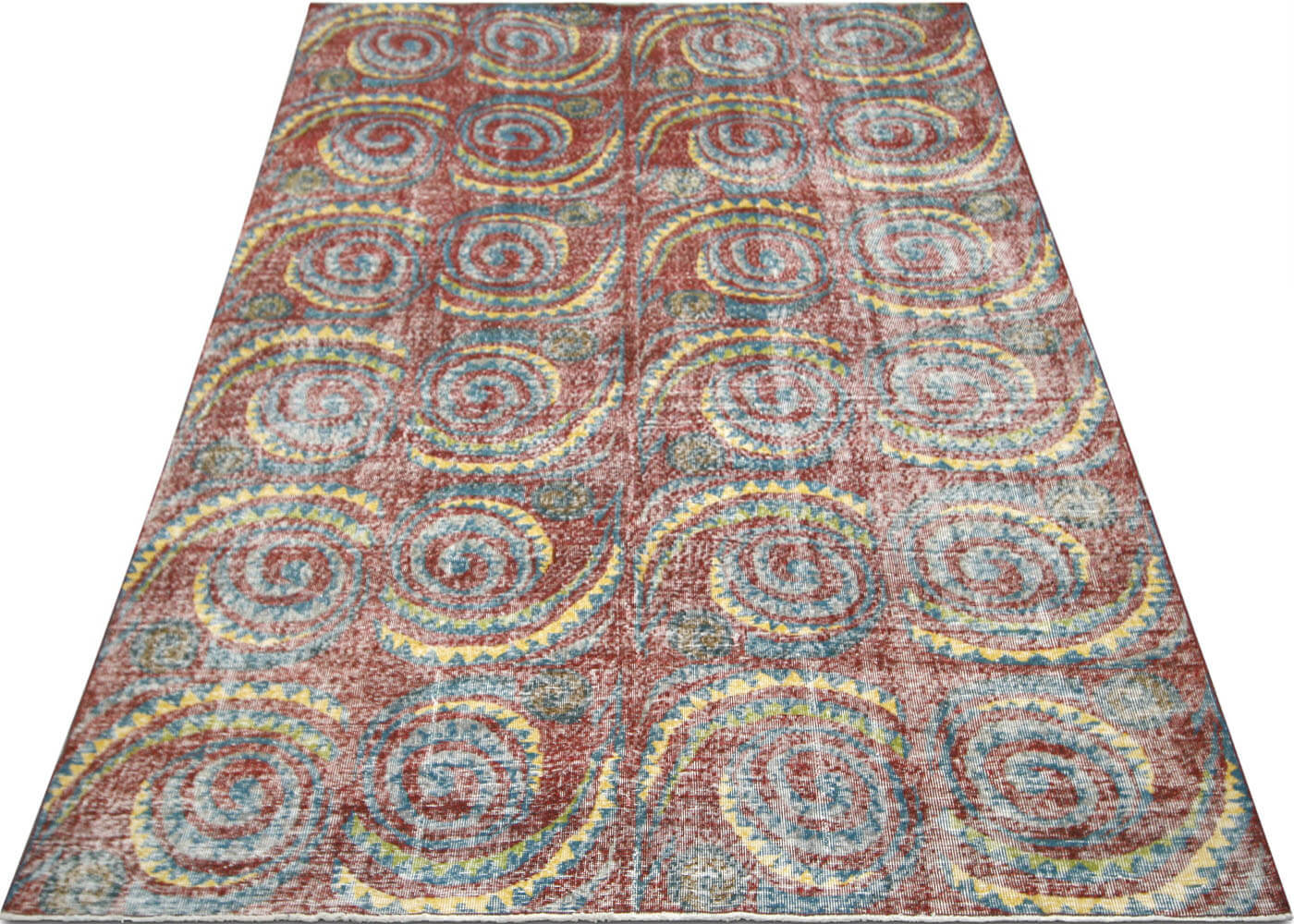 "Vintage Turkish Mid-Century Modern Carpet - 6'9"" x 10'0"""