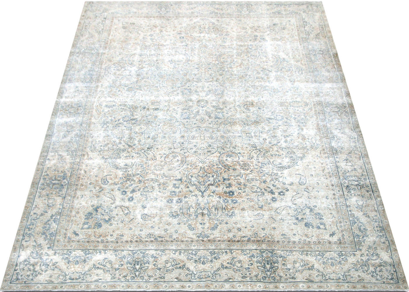 "Semi Antique Persian Kerman Carpet - 8'9"" x 11'6"""