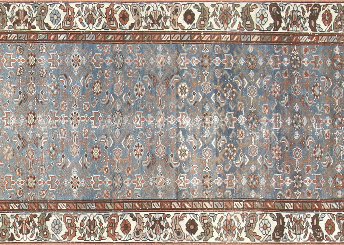 "Semi Antique Persian Melayer Runner - 3'2"" x 16'7"""
