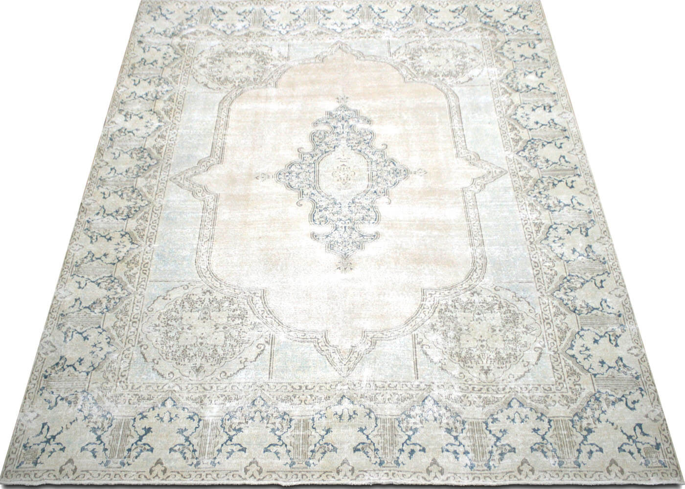 "Vintage Persian Kerman Carpet - 9'9"" x 11'11"""