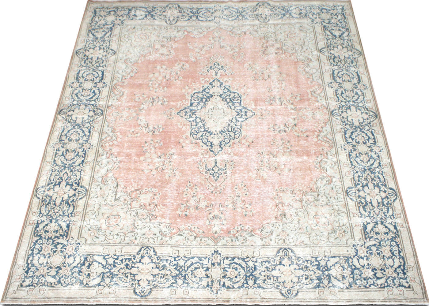 "Vintage Persian Kerman Carpet - 9'10"" x 13'3"""