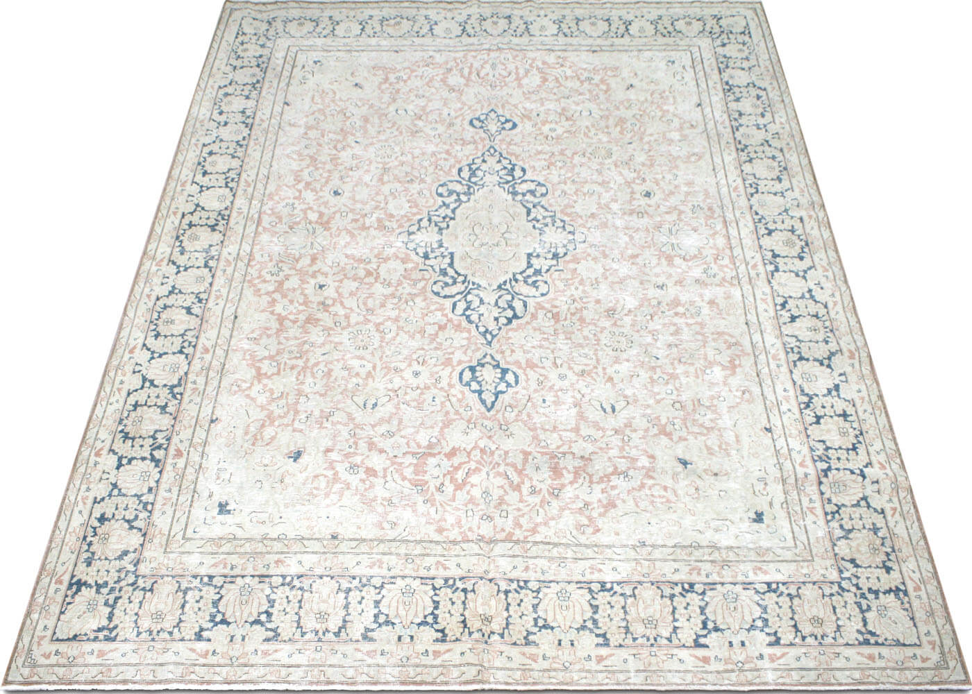 "Vintage Persian Kerman Carpet - 9'8"" x 13'1"""