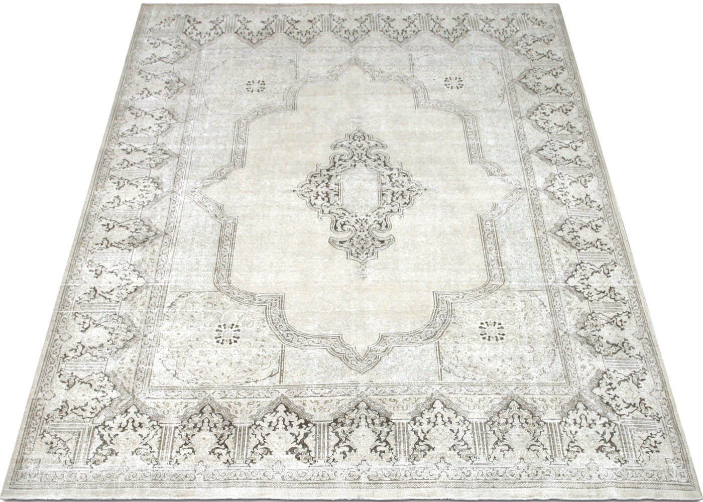 "Vintage Persian Kerman Carpet - 9'9"" x 12'2"""