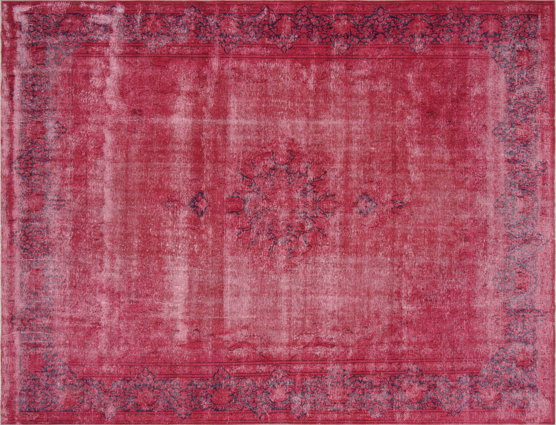 "Vintage Persian Kerman Overdyed Carpet - 10'0"" x 13'2"""