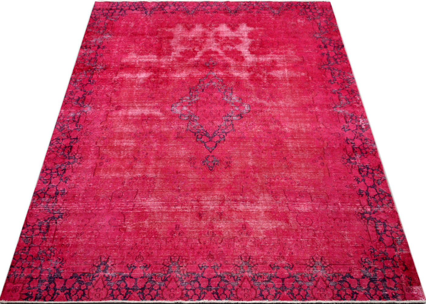"Vintage Persian Kerman Overdyed Carpet - 8'8"" x 11'10"""