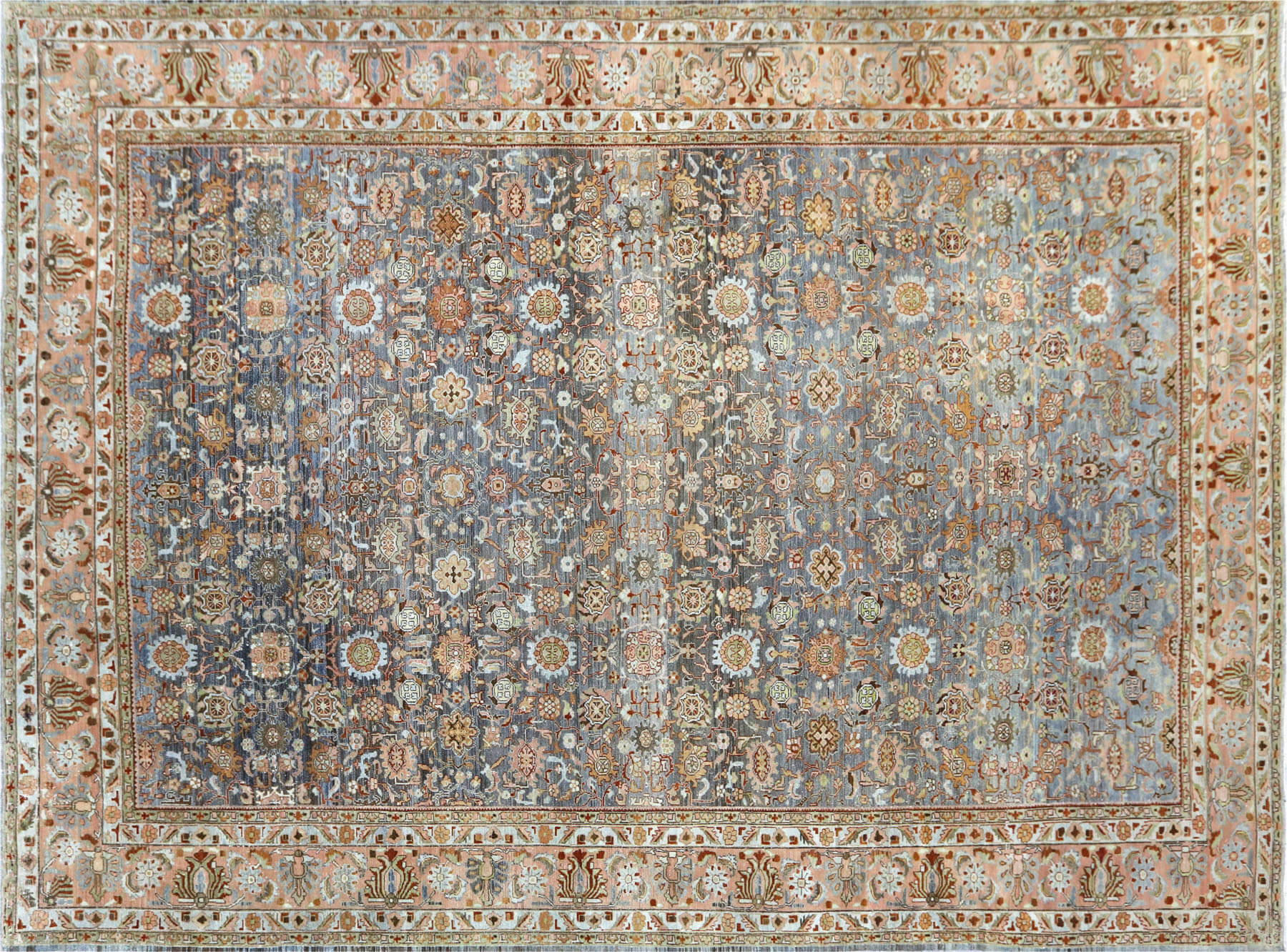 "Semi Antique Persian Melayer Carpet - 12'2"" x 16'5"""