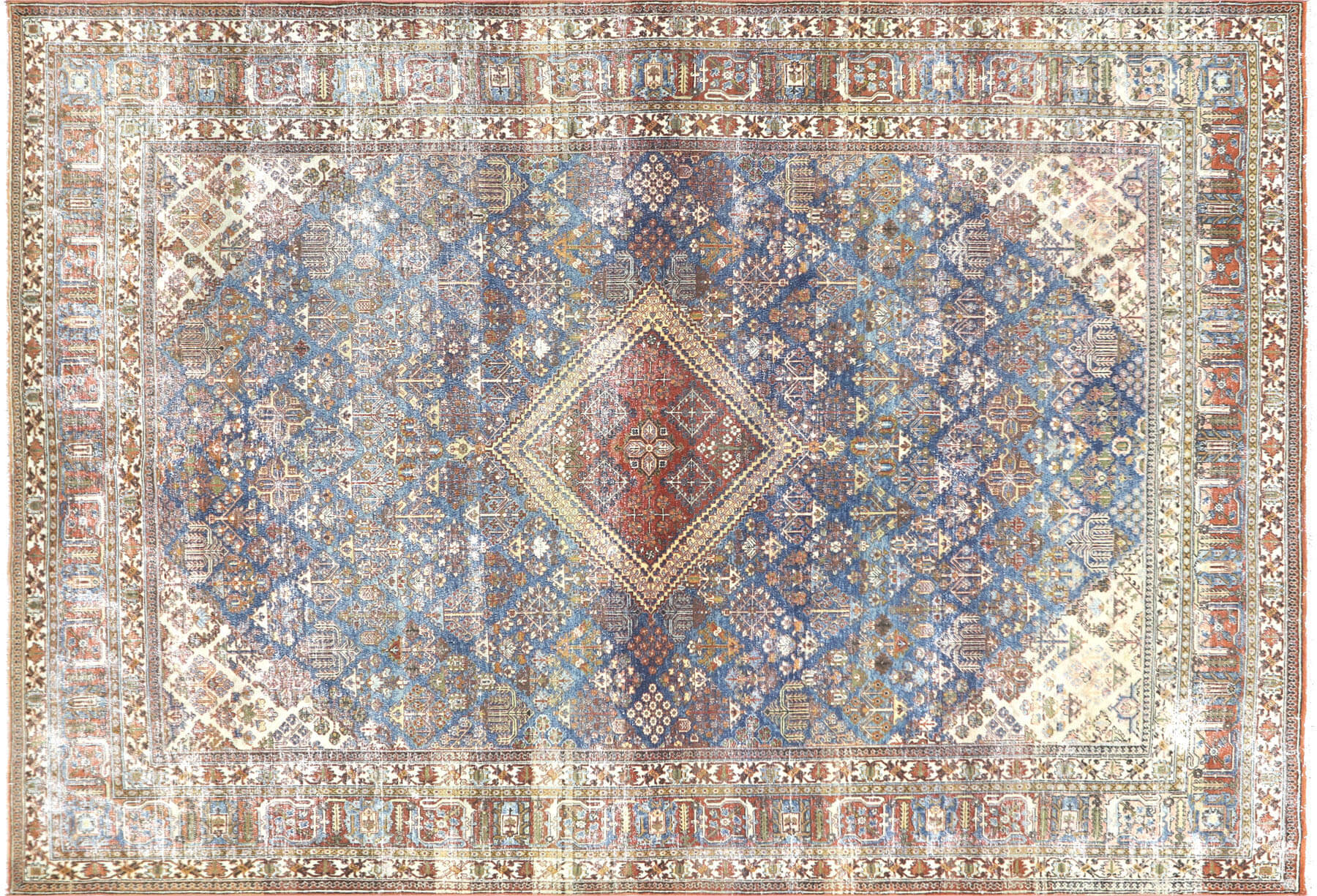 "Semi Antique Persian Joshagan Carpet - 7'9"" x 11'2"""