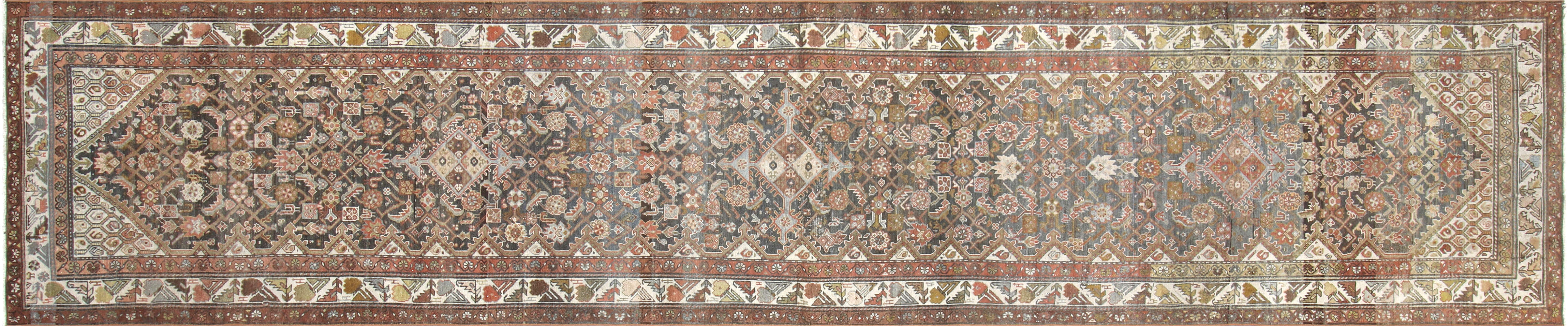 "Semi Antique Persian Melayer Runner - 3'5"" x 16'3"""
