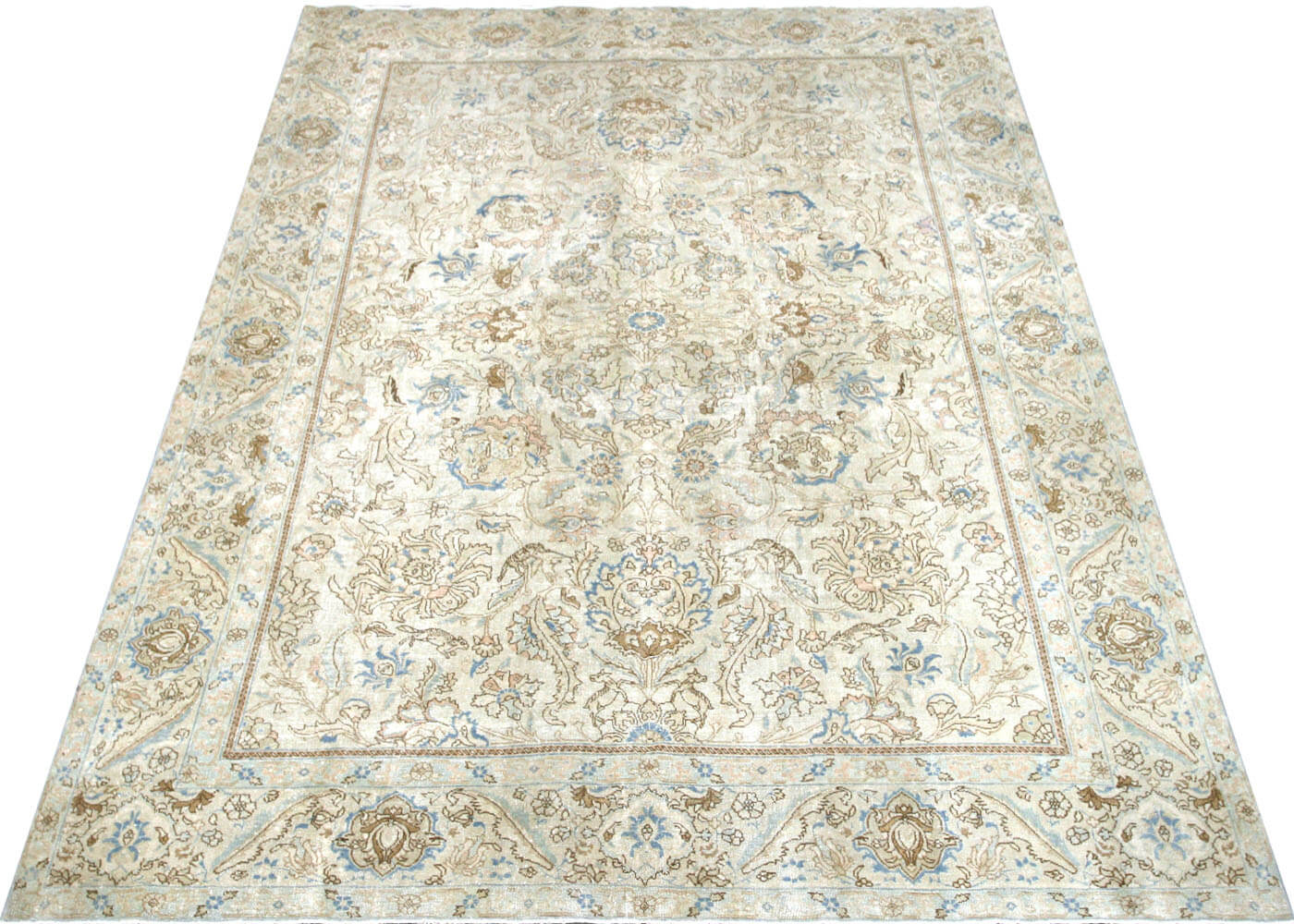 "Semi Antique Persian Tabriz Carpet - 8'5"" x 10'11"""