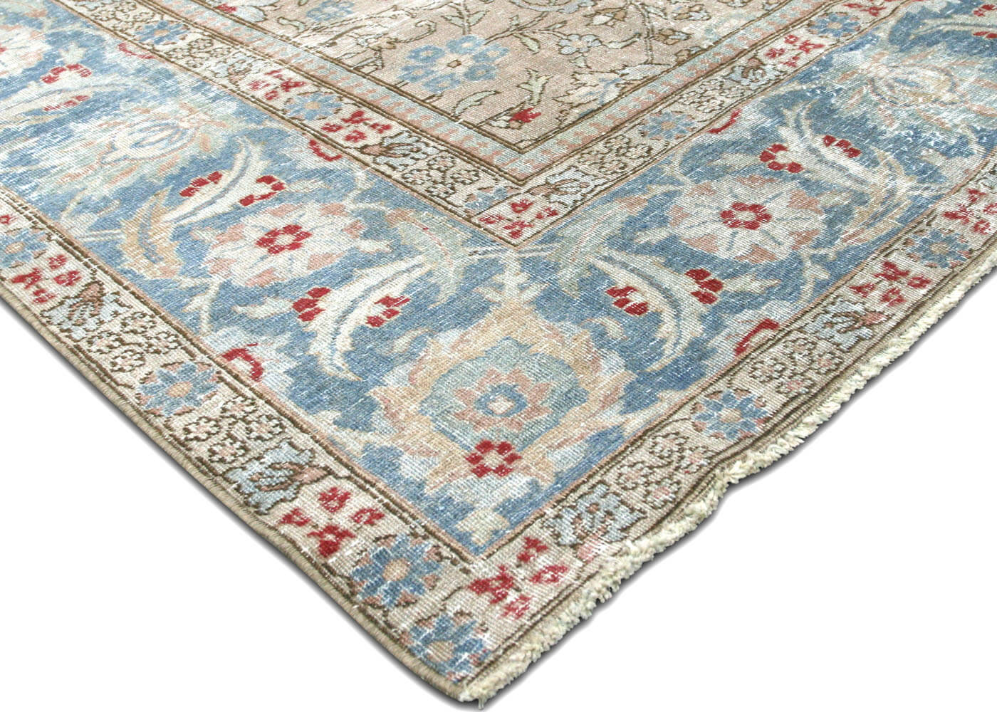 "Semi Antique Persian Tabriz Carpet - 8'10"" x 12'8"""