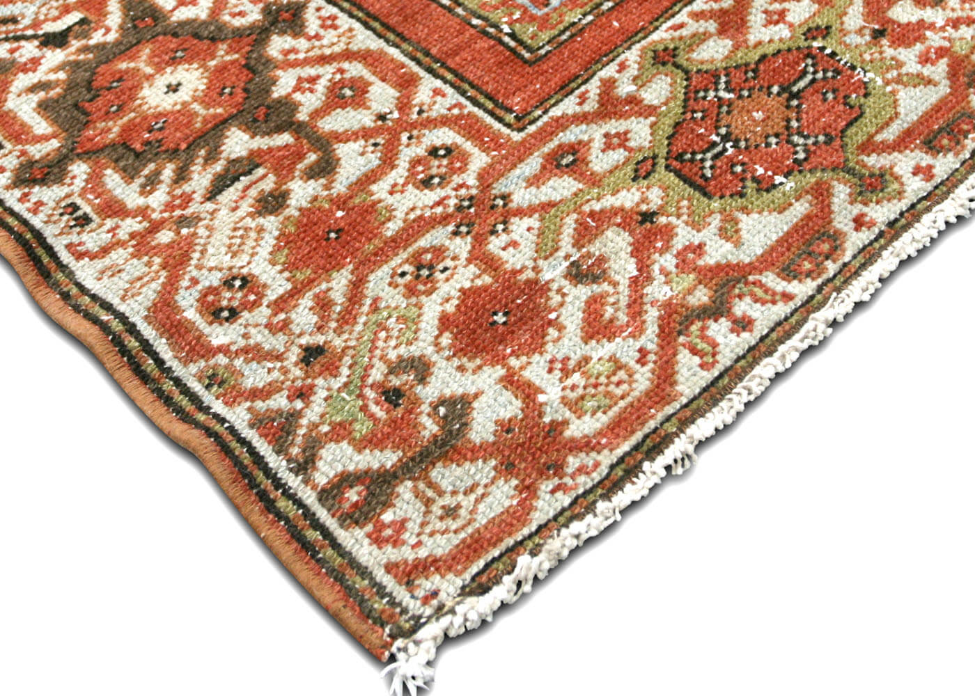 "Semi Antique Persian Melayer Carpet - 6'8"" x 16'8"""