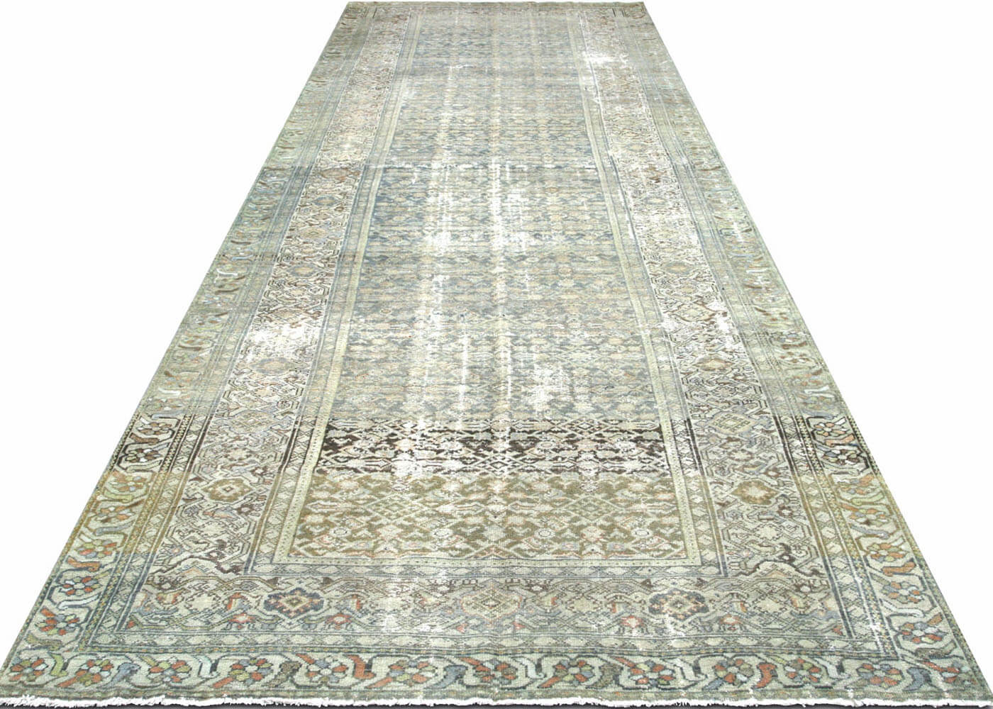 "Semi Antique Persian Melayer Carpet - 6'1"" x 16'10"""