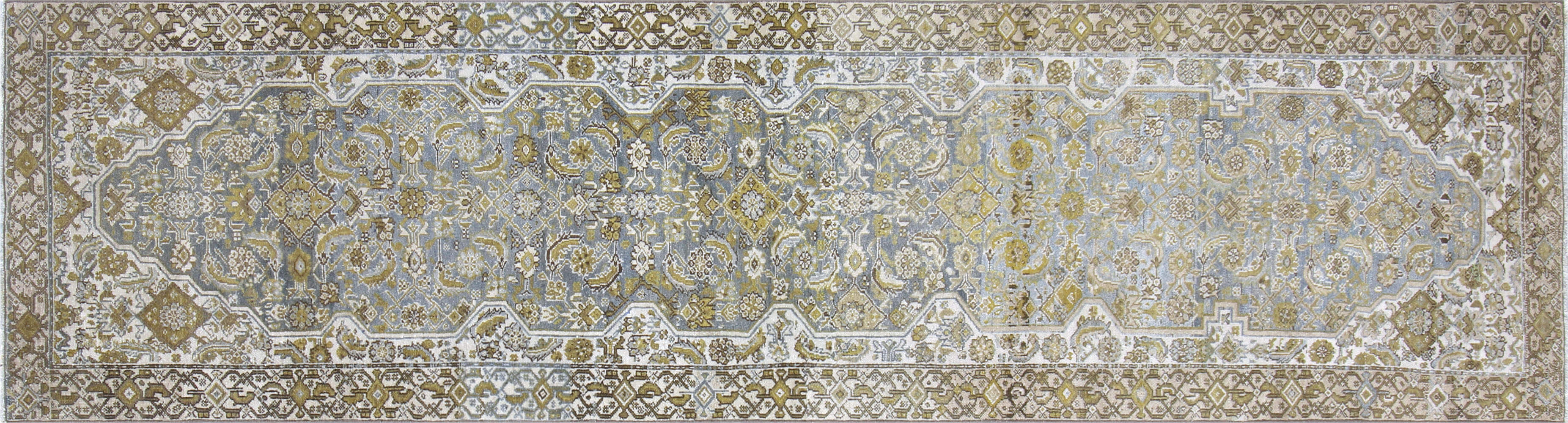 "Semi Antique Persian Melayer Runner - 3'1"" x 11'4"""
