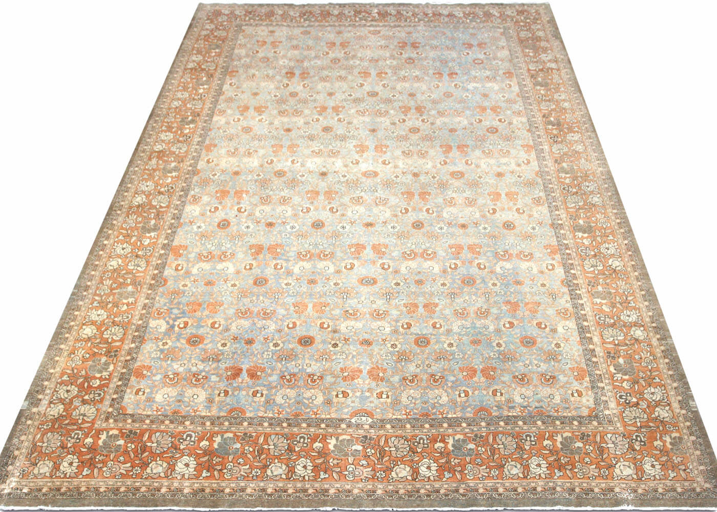 "Semi Antique Persian Tabriz Carpet - 11'5"" x 17'5"""