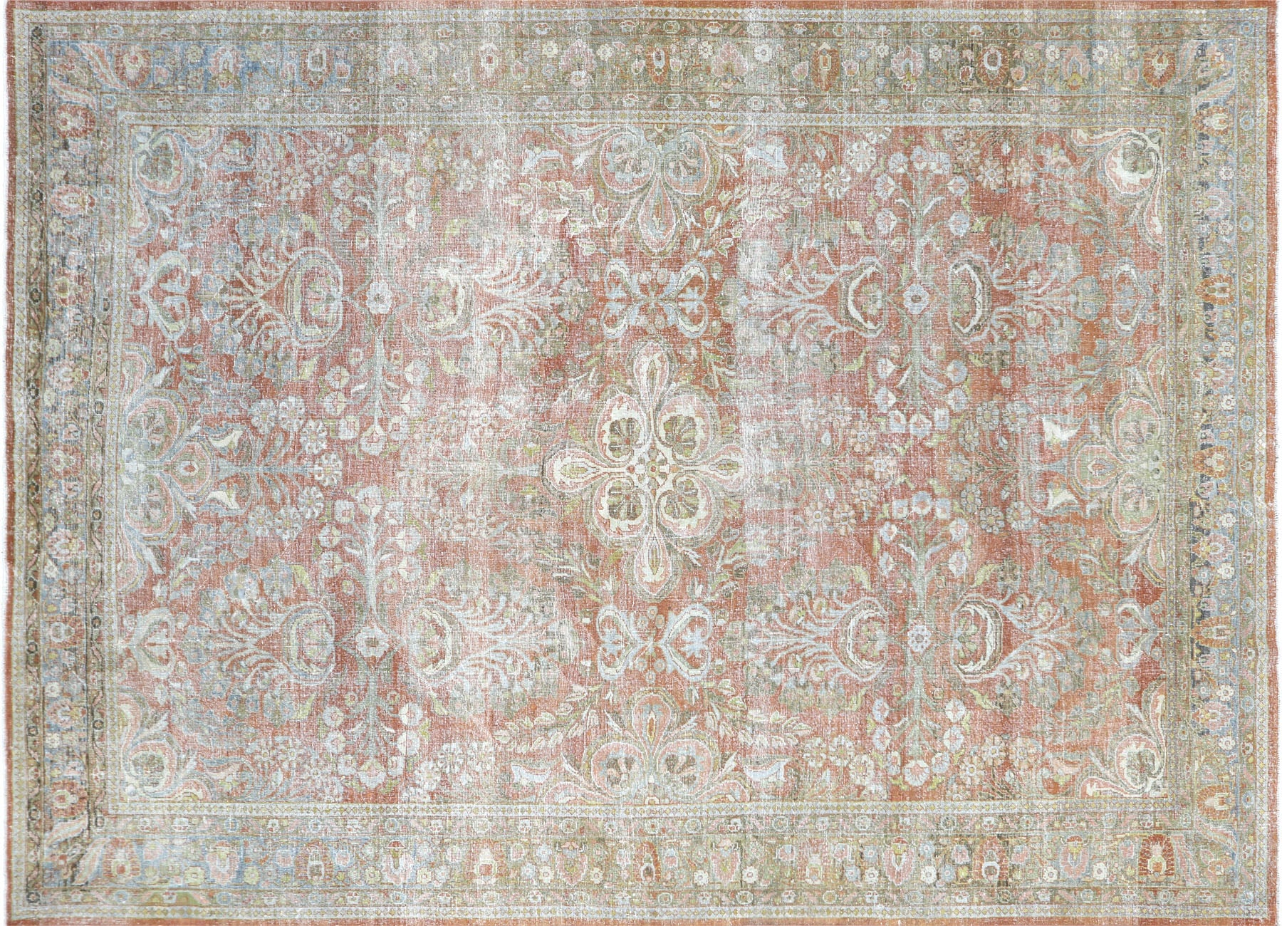 "Semi Antique Persian Mahal Carpet - 9'0"" x 12'3"""