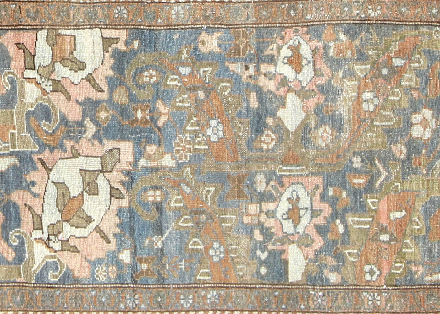 "Semi Antique Persian Melayer Runner - 2'11"" x 15'0"""