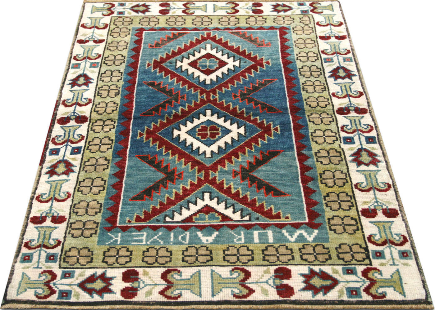 "Vintage Turkish Oushak Rug - 2'8"" x 3'7"""