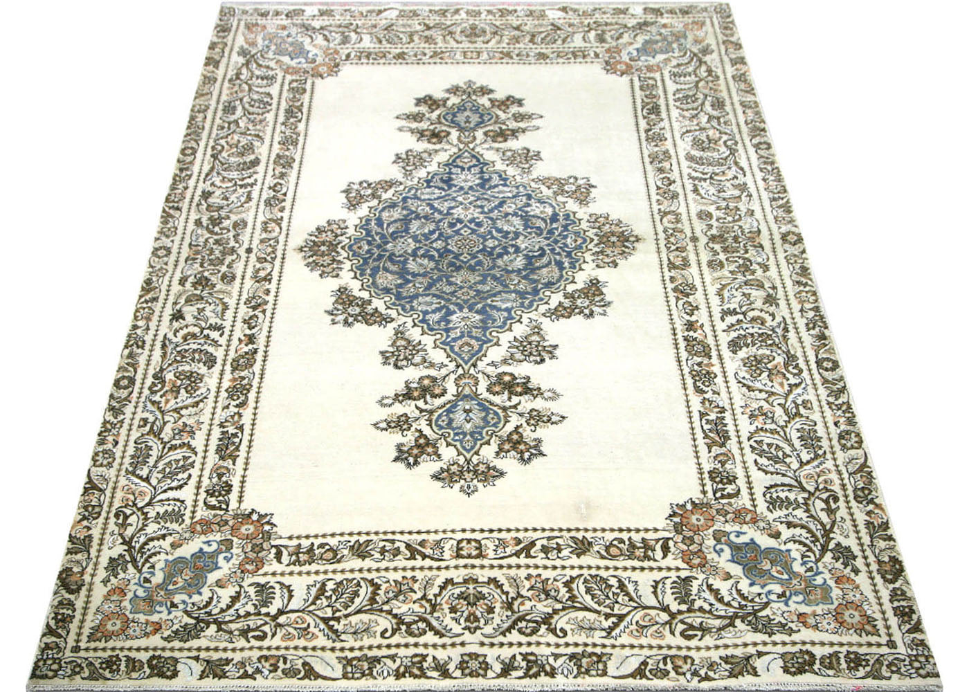 "Semi Antique Persian Tabriz Rug - 4'4"" x 6'7"""